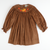 Smocked Autumn Long Sleeve Bishop - Cinnamon Corduroy