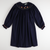 Smocked Night Owls Long Sleeve Bishop - Navy