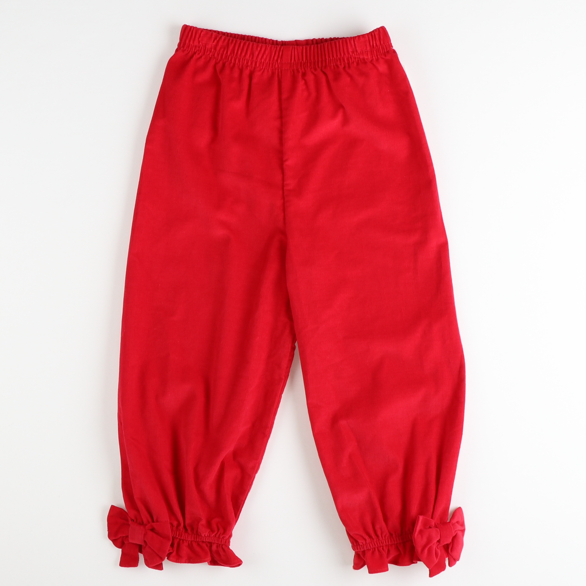 Bow Pants - Red Corduroy