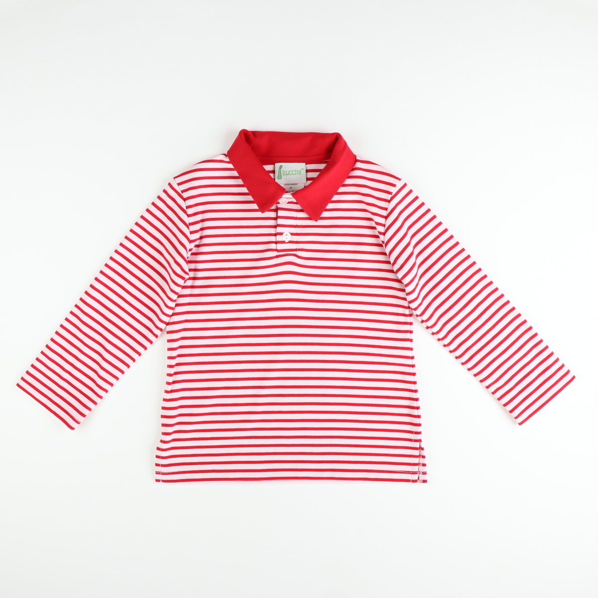 Classic Boys Polo - Red Stripe Knit