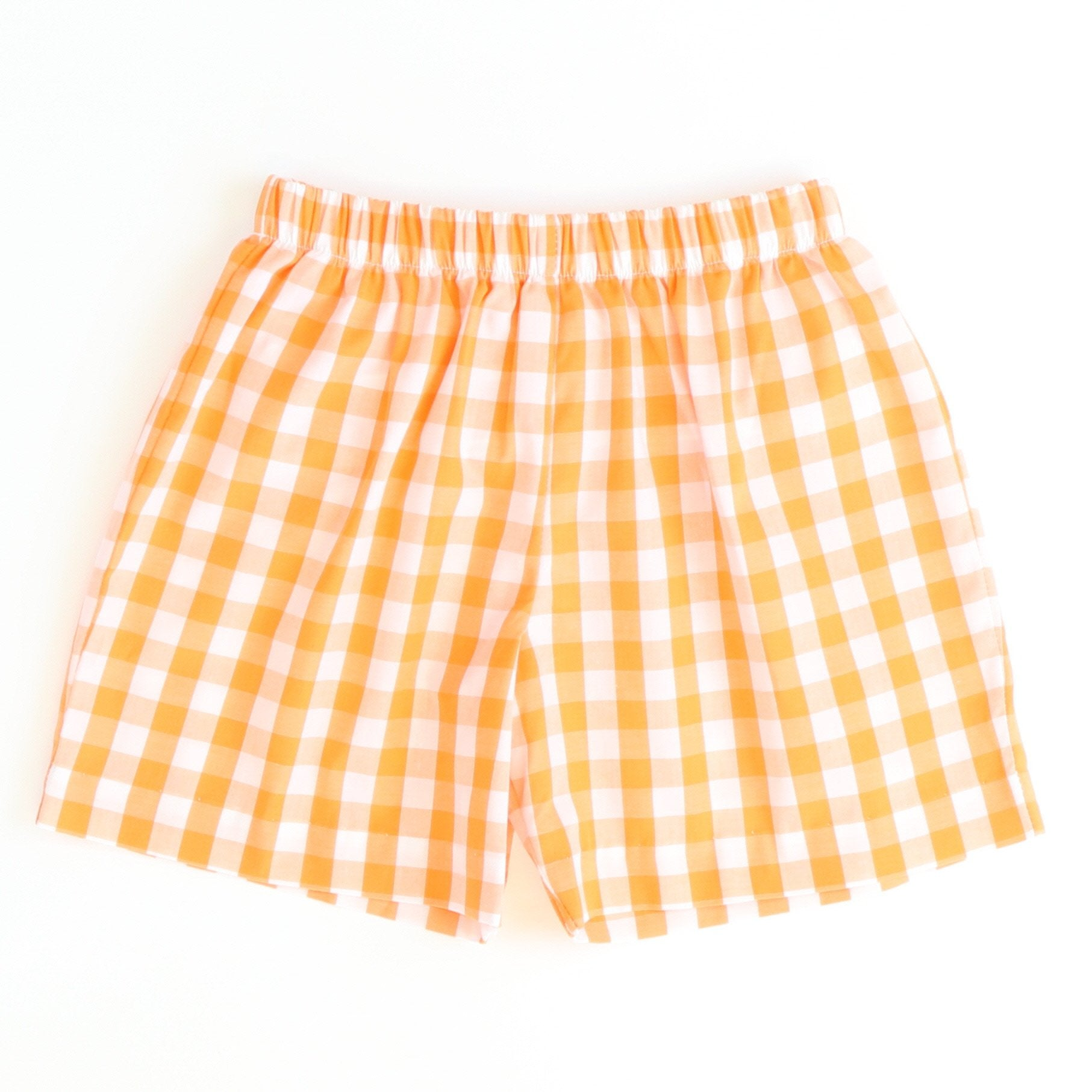 Signature Shorts - Orange Check
