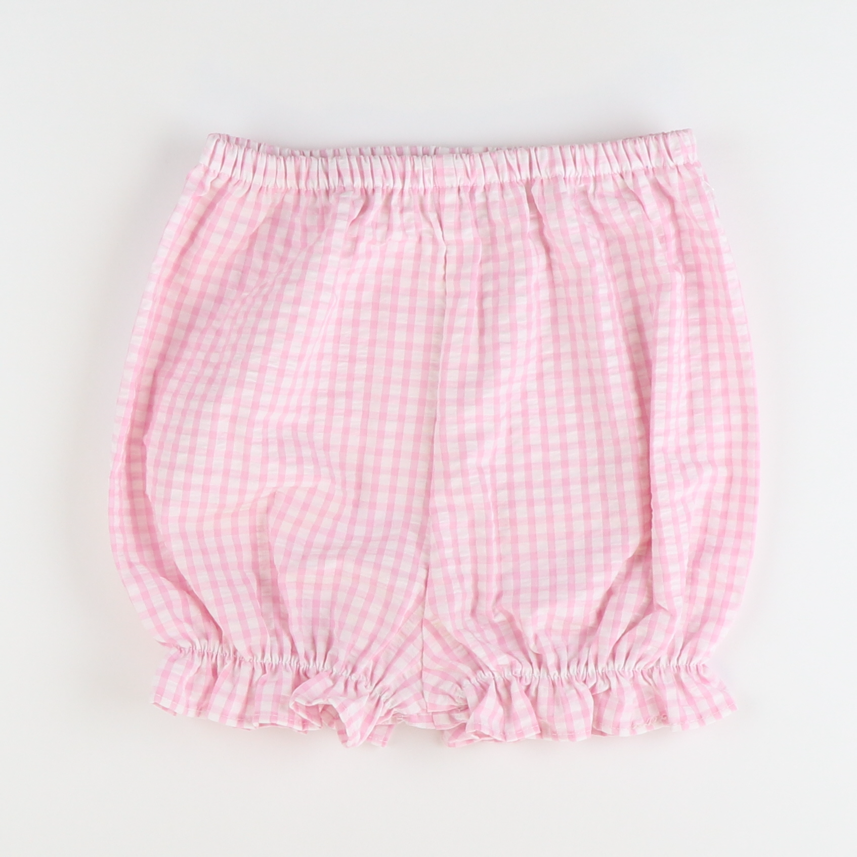 Soda Shop Shorties - Pink Check Seersucker