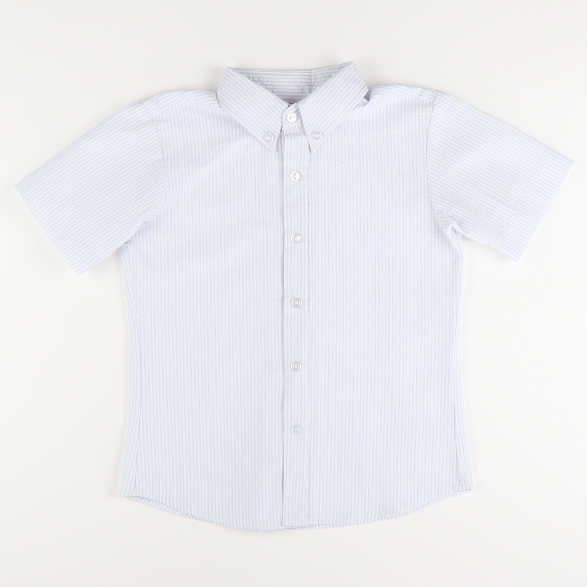 Signature S/S Button Down - Light Blue Stripe Seersucker