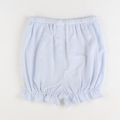 Soda Shop Bloomer Shorts - Cloud Mini Check Seersucker