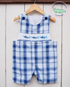 Smocked Marlin Shortall - Southern Smocked Company | Great Deals On Classically Styled Smocked, Monogrammed, & Embroidered Infant, Toddler, & Children's Clothing
