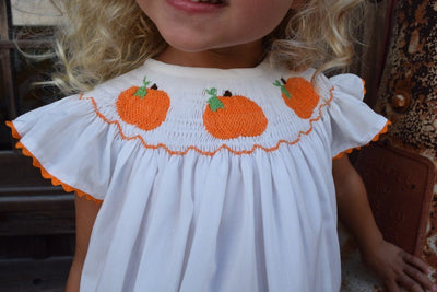 Smocked Pumpkin Cream Bubble