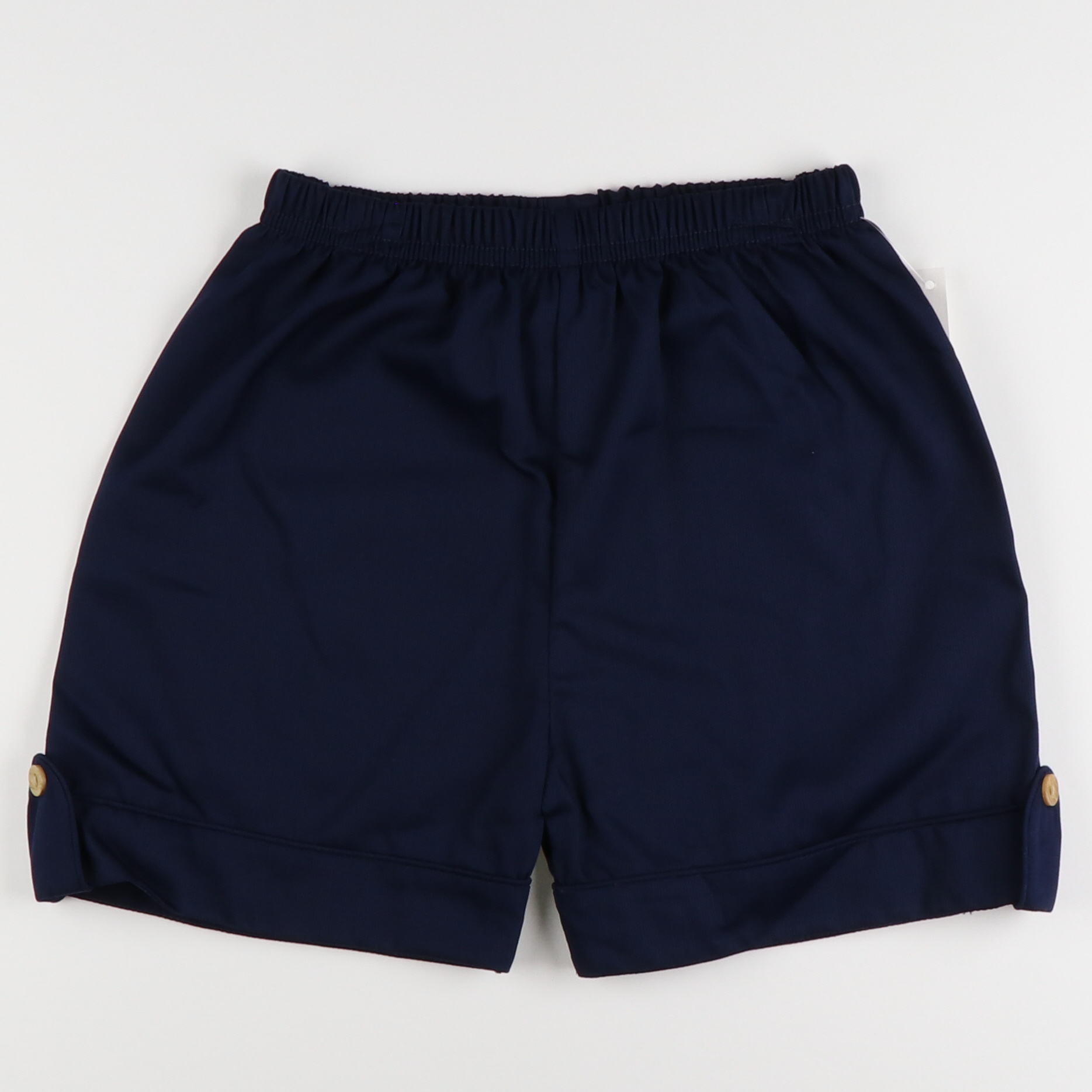 Navy Pique Prep Shorts with Tabs
