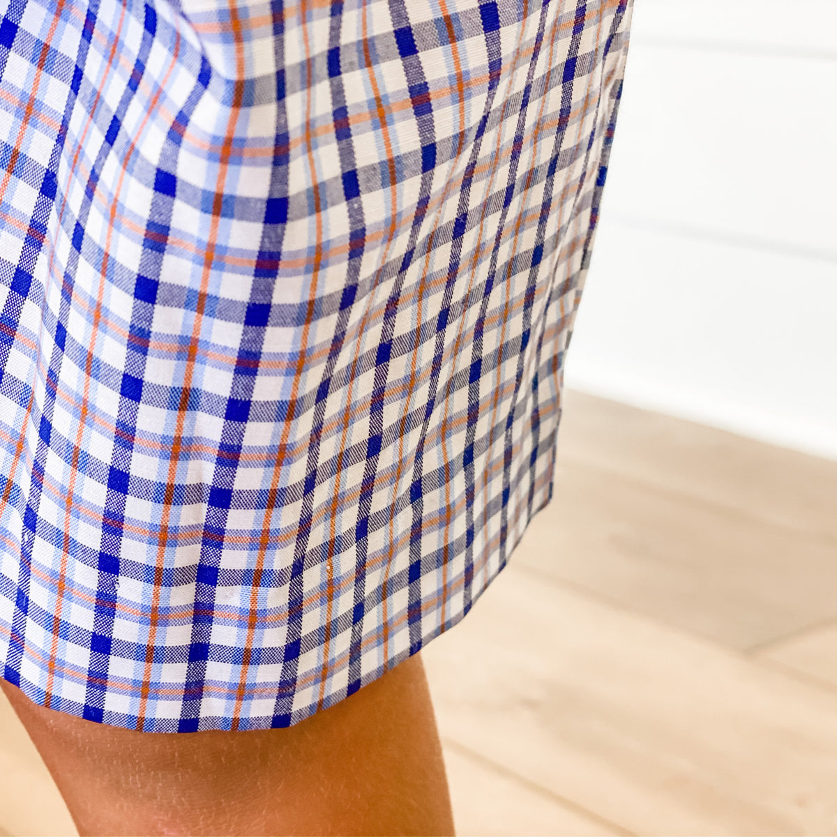 Signature Shorts - Blue & Orange Plaid