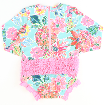 Tropical Floral One-Piece Rash Guard - Stellybelly ?id=27981525254223