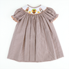 Smocked Thanksgiving Gingham Bishop