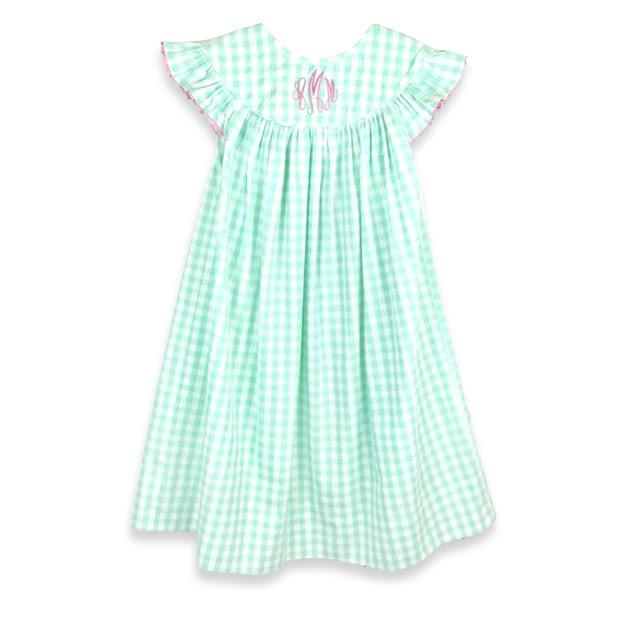 Mint Gingham Float Dress