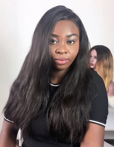 100% straight virgin human hair