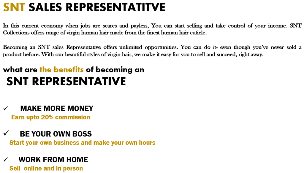 Earn mooney by working from home. Start selling human hair and  earn coomission on every hair you sell