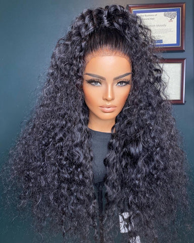 QUEEN- RAW INDIAN CURLS (frontal wig)
