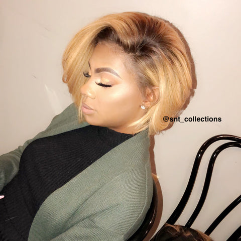 SNT SPECIAL BOB- Honey gold frontal wig