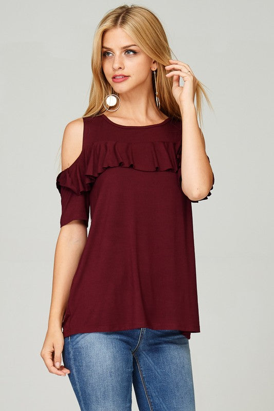 63ad00cc947a55 Open-Shoulder Ruffle Top - Chapter24