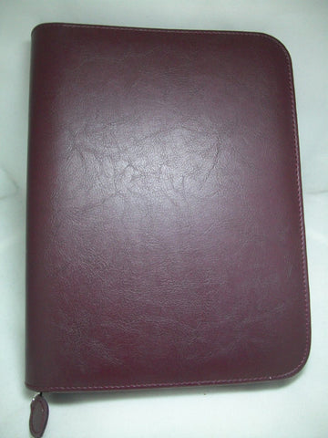 Burgundy Zip Binder