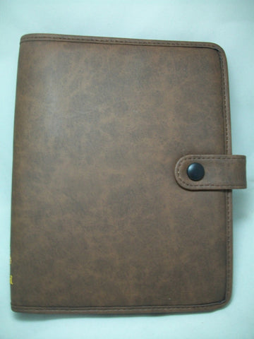 Soft Brown Snap-Tab Binder