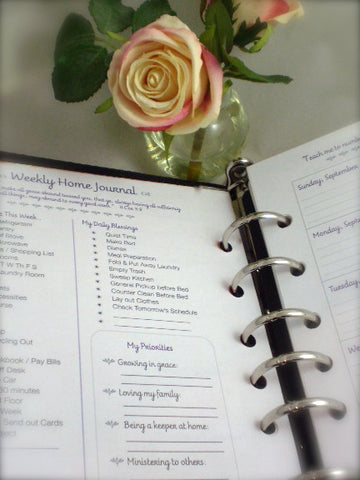 Dated Classic Home Journal Refill Pages