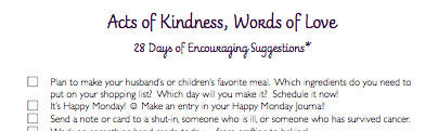 Classic Home Journal Acts of Kindness