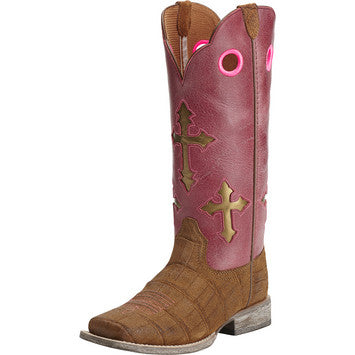 Ariat Ranchero Distressed Brown Gator Print - Youth - Kerlin's Western and Work Wear