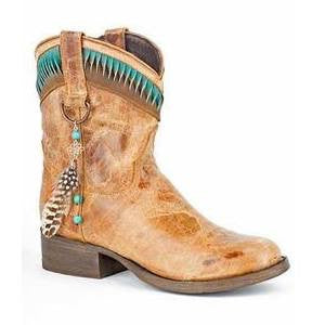 Stetson Western Boots Womens Ankle Twisted Brown - Kerlin's Western and Work Wear