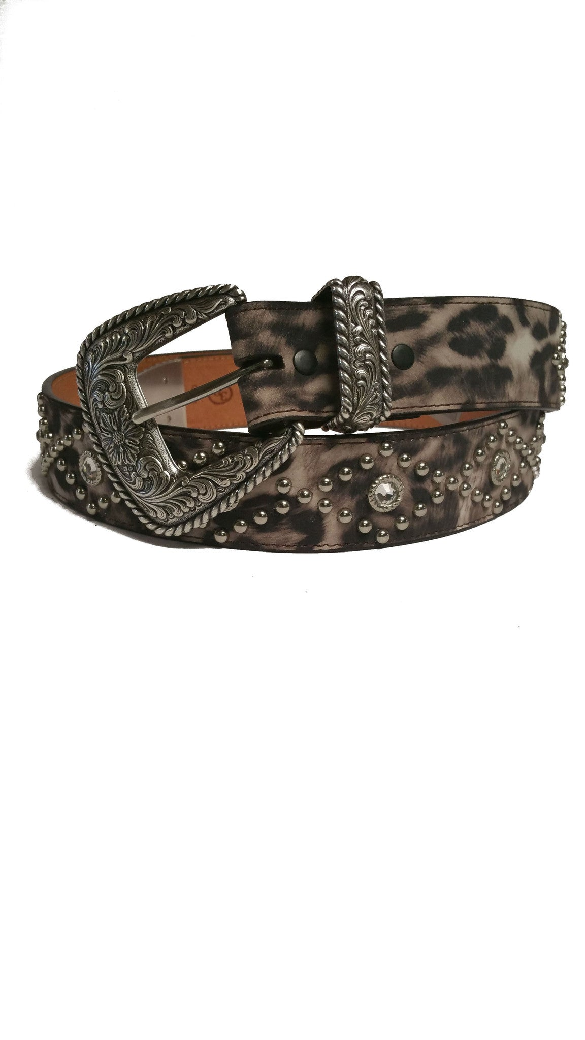 Angel Ranch White Animal Print Fashion Belt - Kerlin's Western and Work Wear