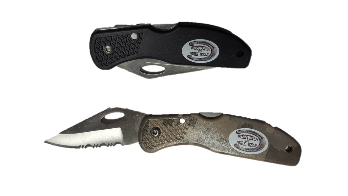 Folding Pocket Knife with Lockback - Kerlin's Western and Work Wear