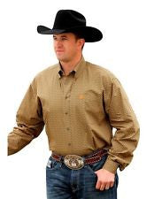 Cinch Long Sleeve Olive and Orange Shirt - Kerlin's Western and Work Wear