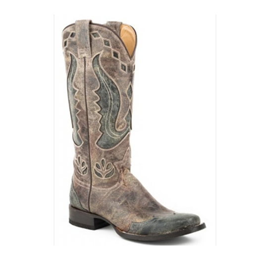 Stetson Women's Crackled Brown Narrow Boot