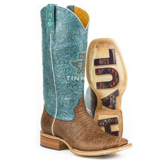 Tin Haul Western Boots Womens Aztec Native Brown
