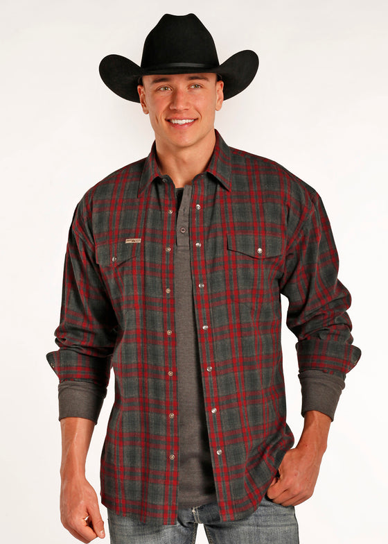 Powder River Outfitters Bandera Brushed Plaid