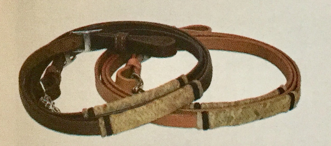 Roping Reins with Rawhide Braided Accents