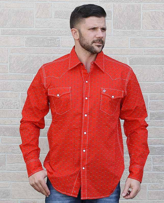 Garth Brooks Seven By Cinch Red Snap Shirt