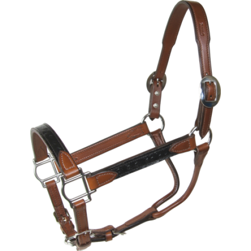 Black Ostrich Leather Halter - Kerlin's Western and Work Wear