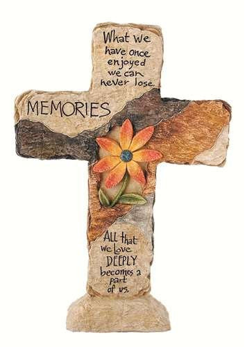Carson Home Accents Memories Earth Stone Cross