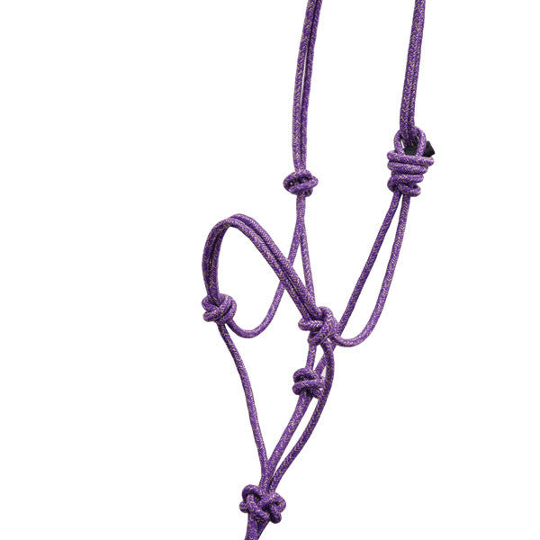Purple Gold Glitter Rope Halter