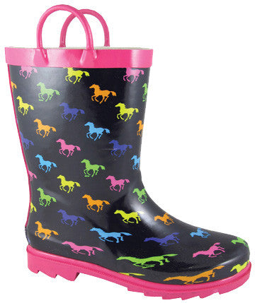 Smoky Mountain Kid's Ponies Rubber Boot - Kerlin's Western and Work Wear