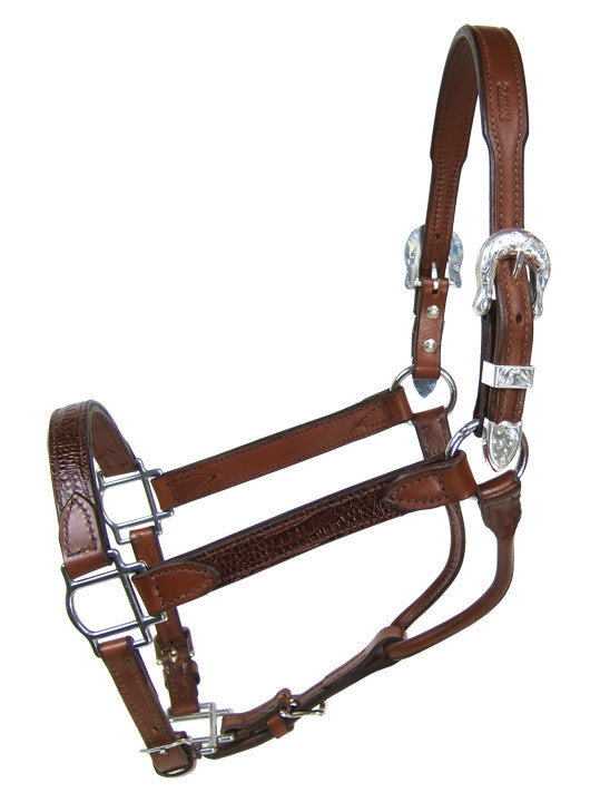 Brown Gator Halter - Kerlin's Western and Work Wear