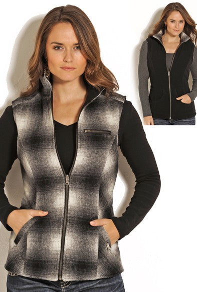 Powder River Outfitters Ladies Plaid Wool Vest - Kerlin's Western and Work Wear