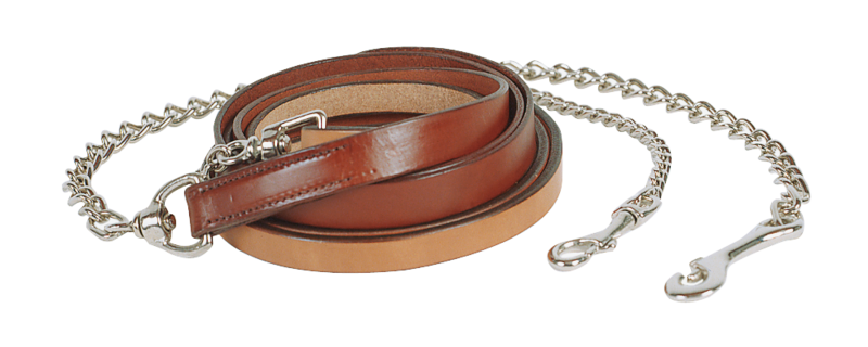 "Show Lead 1"" Wide with 30"" NP Chain in Chestnut - Kerlin's Western and Work Wear"