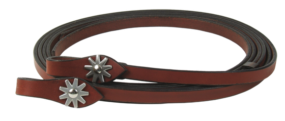 Teardrop Rowel Waterloop Painted Burgundy Reins - Kerlin's Western and Work Wear
