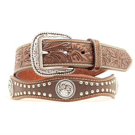 Ariat Men's Scalloped Concho Belt - Kerlin's Western and Work Wear