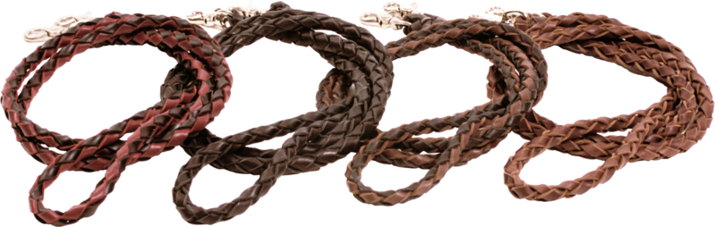 Braided Leather Roping Reins in Black - Kerlin's Western and Work Wear