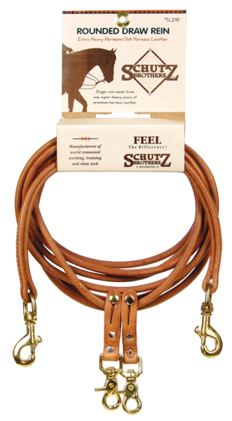 Rounded Draw Reins in Harness Leather - Kerlin's Western and Work Wear