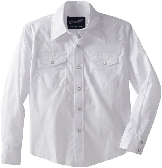 Wrangler Big Boys' Dress Western Solid Snap Shirt - Kerlin's Western and Work Wear