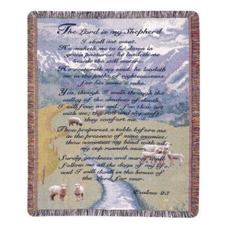Gift to Remember Throw with 23rd Psalm Scripture