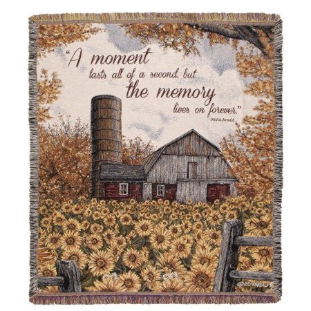 Simply Home A Moment Lasts Tapestry Throw