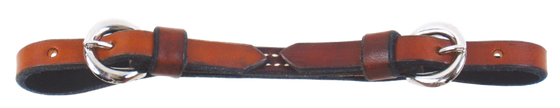 Double Buckle Leather Curb Straps - Kerlin's Western and Work Wear
