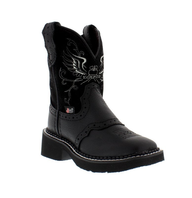 Justin Gypsy Black Western Boots - Youth - Kerlin's Western and Work Wear  - 1